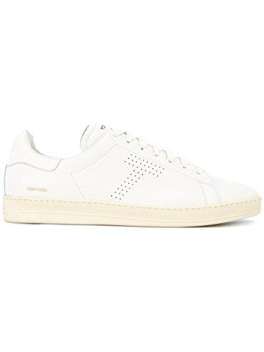 TOM FORD TOM FORD 男人 J1045TDAPWHITE 白色 皮革 运动鞋 / 意大利直邮【亚马逊海外卖家】