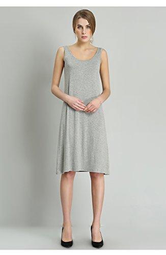 モーダルベースのドレス2018年夏の女性のMeiya爆発クラシック再現(L-105-125 、グレーの長いセクション96 cmのスカートの長さ)