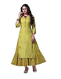 Ladyline 女士 2 件套 Kurti 套装绣花丰富的女式 Kurta 束腰上衣印度连衣裙