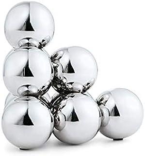 Philippi Bubbles 10个球形书架,不锈钢,高光泽抛光,银色,14厘米