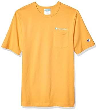 Champion Life 男式传统口袋 T 恤(Champion Script/apri 橙色,2X 大号)