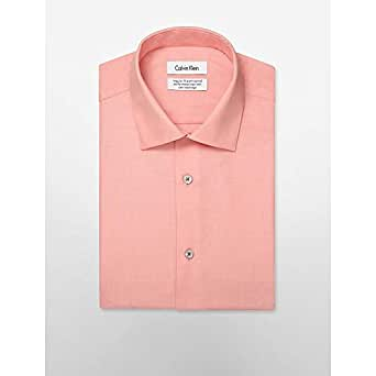 Calvin Klein ck 22575480纯棉净版简约舒适长袖衬衫男 TANGERINE 16