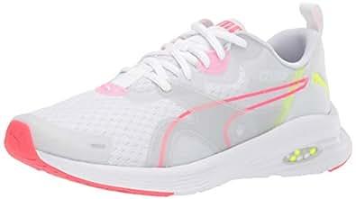 PUMA 女士 Hybrid Fuego 运动鞋 Puma White-pink Alert-yellow Alert 6