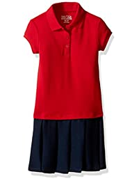 Nautica Girls' Pique Polo Pleated Dress