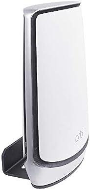 家庭WiFi支架適用于Orbi Whole Home三頻網狀WiFi6系統Orbi Ultra(RBK852),壁掛式支架WiFi系統支架,兼容Orbi WiFi 6系統,黑色(1件裝)