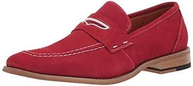 STACY ADAMS 男士 Colfax 软帮鞋一脚蹬乐福鞋 红色 11.5 M US