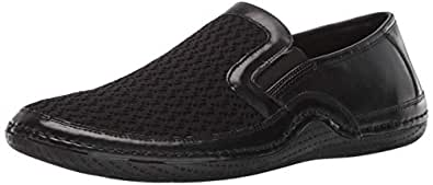 STACY ADAMS 男士 Orleans 一脚蹬休闲乐福鞋驾驶风格 黑色 7.5 M US