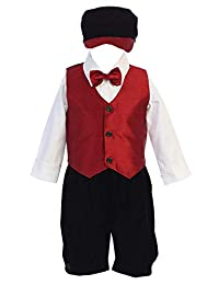 iGirldress 男童红色黑色圣诞背心裤/短裤套装,男宝宝