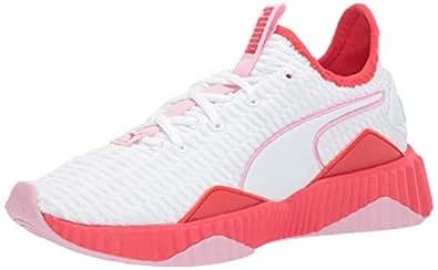 PUMA 彪马 儿童 Defy 运动鞋 White-hibiscus -Pale Pink 13 Little Kid