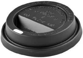 黑色圆顶咖啡杯盖 黑色 Black Dome Lid 100 1