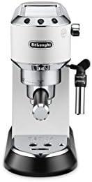 De'Longhi 德龙 Dedica Style EC 685.W 意式过滤咖啡机(Espresso),带有专业奶泡喷嘴,仅15厘米宽,1L水箱,全金属外壳,适用于E.S.E垫