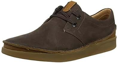 Clarks 男士 Oakland 蕾丝 Derbys Braun (Dark Brown Leather) 39.5 EU