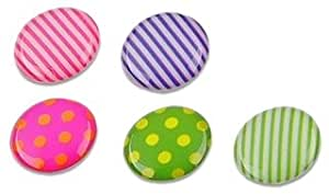 eForCity 6 Pieces Home Button Sticker for iPhone/iPad/iPod touch (Dot/Strip)