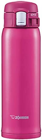 ZOJIRUSHI 象印 不銹鋼水杯 直飲 輕巧 保冷保溫杯 一鍵式開啟 480ml 深櫻紅 SM-SD48-PV