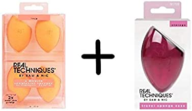 Real Techniques Miracle Complexion Sponge 4pk With Two Travel Cases Value Set