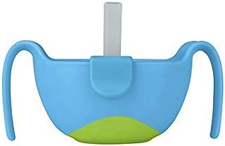 b.box 3合1碗,带盖和吸管&小吃插入件 6个月+ | 颜色:海洋微风| 无双酚A | 不含邻苯二甲酸盐和PVC | 适用于洗碗机和微波炉/8.5盎司/约251.38ml