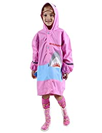 儿童雨衣/雨衣 3D 鲨鱼轻质雨衣 适合男孩