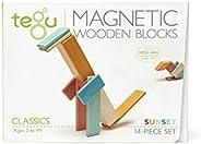 Tegu 14件 磁性木制积木套装,日落