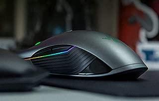 Razer Lancehead 无线游戏鼠标:16,000 DPI 光学传感器 - Chroma RGB 照明 - 9 个可编程按钮 - 机械开关 - 50 小时电池 - 哑光黑色