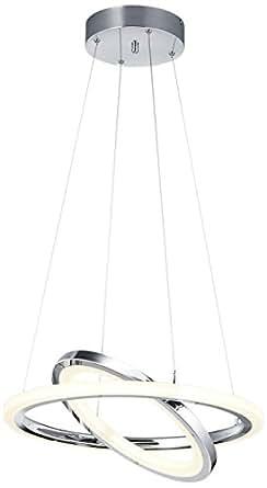Trio Leuchten 624410407 LED 天花板灯土星 376013606 灯罩铬丙烯酸白色