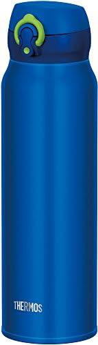 THERMOS 膳魔師 水杯 真空隔熱便攜式保溫杯 一鍵開啟式 750ml 藍黃色