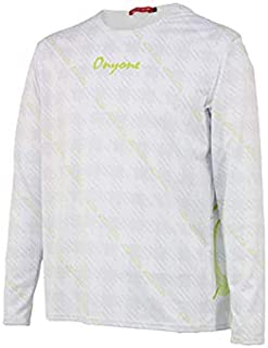 ONYONE T恤 OKJ91984 格子花纹长T恤 男士 100白色 日本 O (日本サイズ2L相当)
