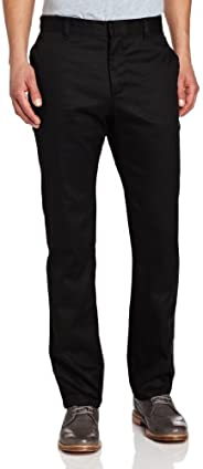 Lee 男式修身直筒长裤 黑色 33W x 34L