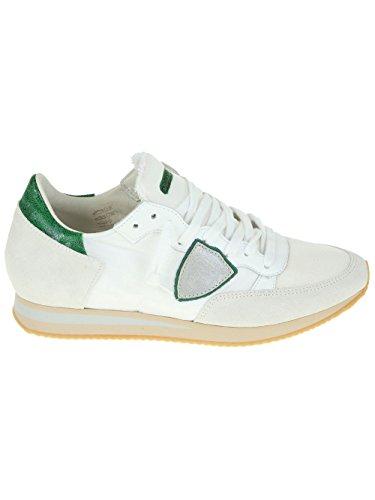 PHILIPPE MODEL PHILIPPE MODEL 男人 TRLUWT39 白色/绿色 织物 运动鞋 / 意大利直邮【亚马逊海外卖家】