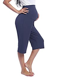 Joyaria 女式孕妇过腹七分裤孕妇休闲/睡衣/瑜伽裤