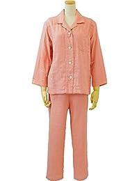 UCHINO 睡衣 棉花糖纱布 睡衣 轻盈柔软 3层纱布 吸水性 透气性 保暖性 日本阿托比协会推荐产品 橙色 Medium RP15682M Or