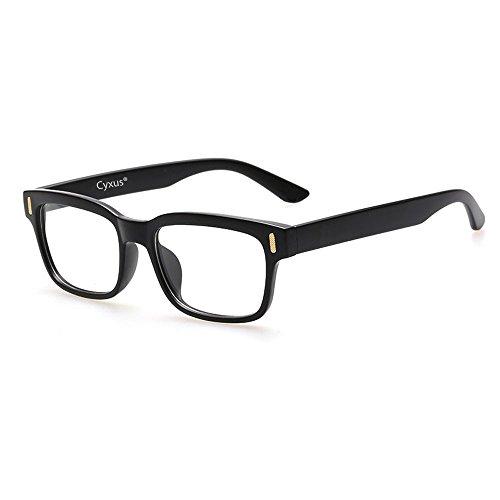 Cyxus 美国赛施 防辐射抗蓝光眼镜平光 防眼疲劳保护视力电脑游戏男女通用款 透明镜片黑色镜架