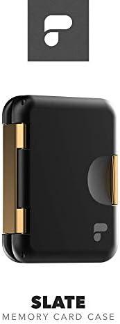 PolarPro Slate XQD 卡套(適用于 4 XQD,8 SD 和 4 Micro-SD) - 高級金屬 XQD 外殼