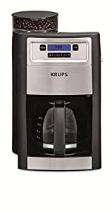Krups德国克鲁伯自动咖啡机系列KM785D80美式滴漏式家用全自动咖啡机豆粉研磨一体咖啡(咖啡壶容量1.25L)950W(两年质保)(包邮)(亚马逊自营商品, 由供应商配送)