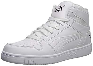 PUMA 彪马 男式 Rebound Layup 运动鞋 白色/黑色 4