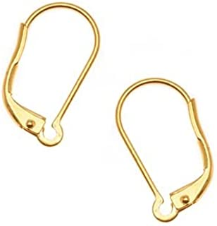 Beadaholique 耳环棒背面,22K 镀金,一对 5 个