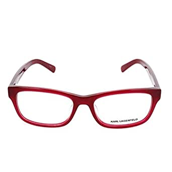 Karl Lagerfeld 女士 Kl8740155317135 眼镜架,红色,53