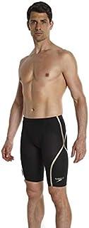 Speedo Fastskin LZR Racer X Race Long High Waist Jammer Swimsuit, Black (Black/Gold), 23
