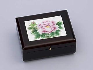 彩光舍 摆件 - 14.5×18.5×7.5cm 彩光舍 七宝烧 宝石盒(小)(带八音盒) 牡丹 121-20