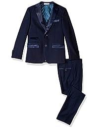 AXNY 男孩 2-20 定制 3 件套(夹克、兽、裤子)印花燕尾服套装