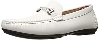 Stacy Adams 男式 percy-braided 带驾车鞋牛津鞋 白色 8.5 D(M) US