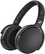 Sennheiser 森海塞尔 HD 350BT 蓝牙 5.0 无线耳机 - 30 小时电池寿命,USB-C 快速充电,虚拟助理按钮,可折叠 - 黑色