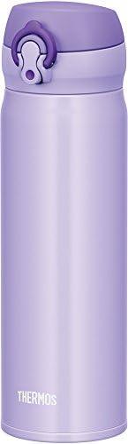 THERMOS 膳魔师 水杯 真空隔热便携式保温杯 一键开启式 500ml 淡紫色