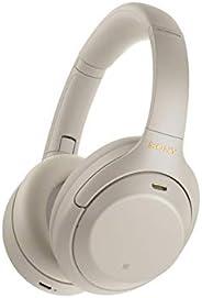 Sony 索尼 WH-1000XM4 噪音无线头戴式耳机,30小时待机,内置麦克风用于电话通话,银色