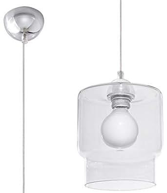 Sauux 照明 Paola 吊灯,玻璃,透明,铬