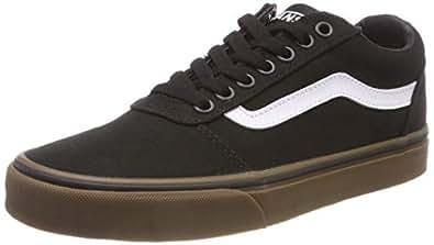 Vans 范斯 男士 Ward 帆布运动鞋 Schwarz (Canvas) Black/Gum 7hi) 38.5 EU