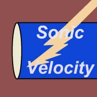 Gas Sonic Velocity in Pipes Free