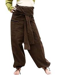 RaanPahMuang 高级Siams 棉质渔夫包裤*独特一对