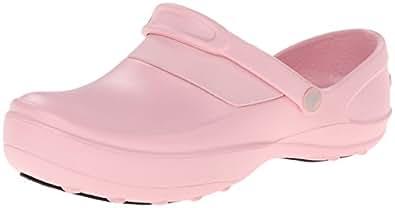 crocs 女士 10876 Mercy Work Mule,Petal Pink/Petal Pink,9 M US