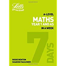 Letts A-level Revision Success – A-level Maths Year 1 (and AS) In a Week (English Edition)