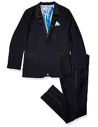 Isaac Mizrahi 男孩 2 件套撞色尖领燕尾服